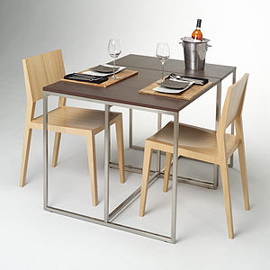 A table set for two people.